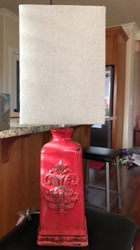 red and white table lamp Vancouver, 98662