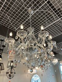 Brand New 9 Light Triple K9 Crystal Chandelier  Vaughan
