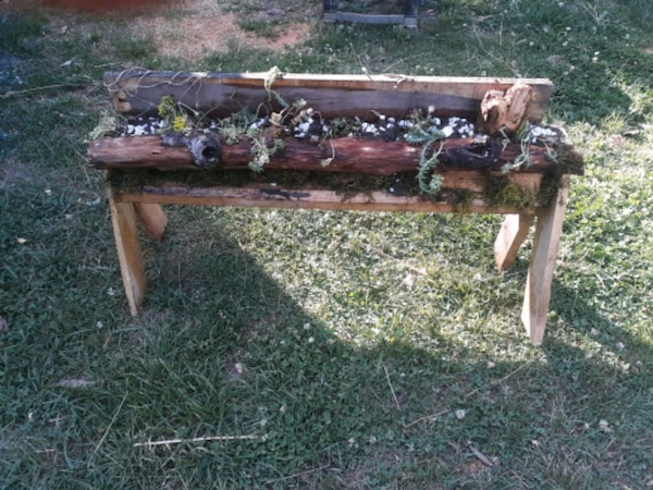 Super Wood Planter Full Of Succulents Caraccident5 Cool Chair Designs And Ideas Caraccident5Info