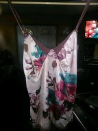 white and pink floral spaghetti strap size small Yakima, 98901