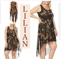 Lilian High Low Floral Dress