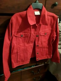 red button-up jacket Slidell, 70461