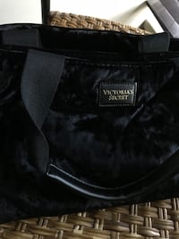 Black Victoria's Secret Velvet Totebag, Large, used only twice. Has no compartments. Vancouver, V6T 0A6