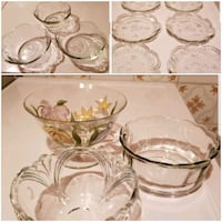 Glass Bowls (3), Glass Snack Dishes (8) & Bowls (3 Toronto, M9N