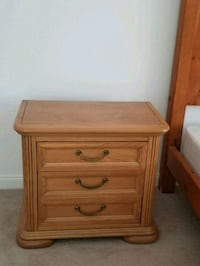 brown wooden 3-drawer nightstand West Palm Beach, 33401