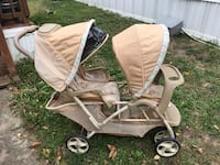 baby's brown and gray stroller 928 mi