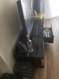 Black piano finish TV stand with drawers Toronto