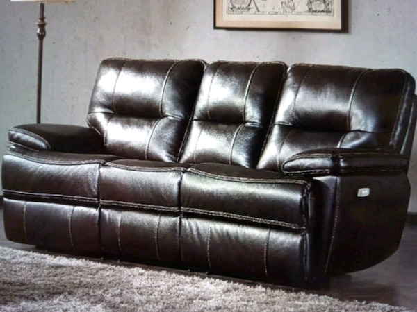 Astounding Tomlin Leather Power Reclining Sofa New Bralicious Painted Fabric Chair Ideas Braliciousco