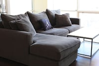 Gray fabric sofa chair with chaise Chicago, 60654