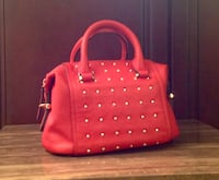 Studded red handbag *pending pickup* Calgary, T2E 2E2