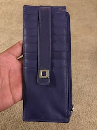 Purple RFID Lodis leather case with box Willowbrook, 60527