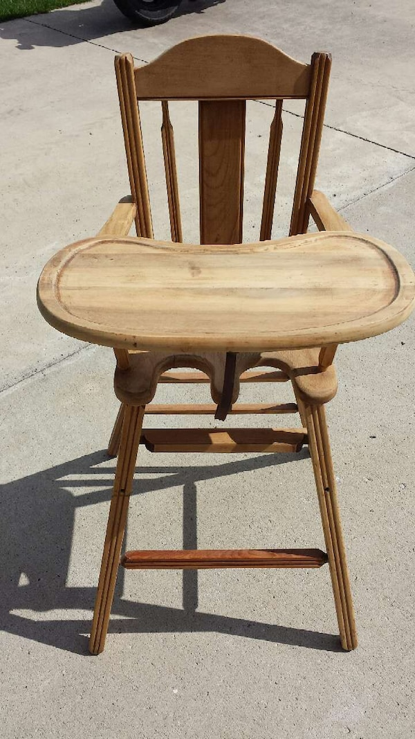 antique wooden high chair - Used Antique Wooden High Chair For Sale In Okoboji - Letgo