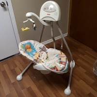 baby's white and gray cradle n swing Mississauga