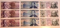 Lot of 9 Vintage Various 1970s-80s Mexican Bills