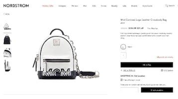 MCM Mini Crossbody in Contrast Logo Leather