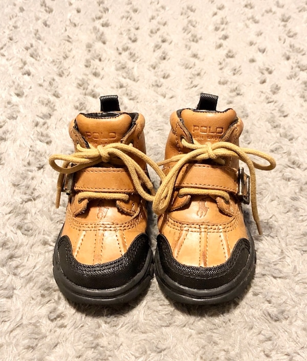 Baby polo duck boots paid $68 size 6.5 Great condition Brown a69281c6-adab-4b27-ab85-d74df43f38f8