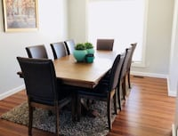 Dining wood table with 9 chairs Calgary, T1Y