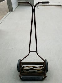 ANTIQUE REEL LAWN MOWER MADE IN ENGLAND