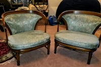 """Bedroom"" slipper chairs. Bel Air, 21014"