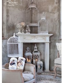 One Ornate Birdcage in Classic White  Houston, 77055