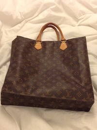 brown Louis Vuitton leather tote bag Vaughan