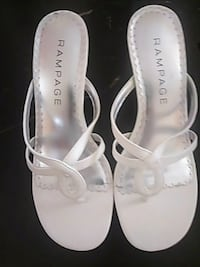pair of white leather open-toe sandals Henderson