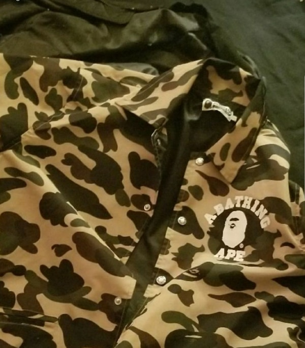 783eafae7353 Used A Bathing Ape 1st Camo College Coach Jacket for sale in Las ...