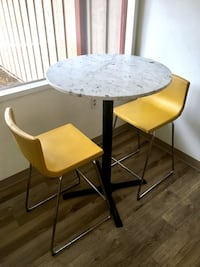 Table w/ Marble Top + (2) IKEA Bar Stools Seattle, 98125