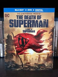 The Death Of Superman Blu-ray with Digital Copy Mississauga, L5B 1E5