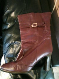 Red heel boots Cohoes