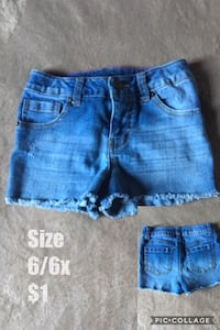 Blue denim shorts Bakersfield, 93305