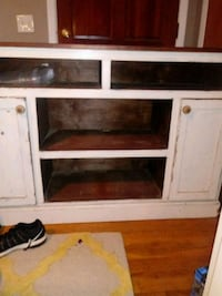 white and brown wooden TV stand Warner Robins, 31088