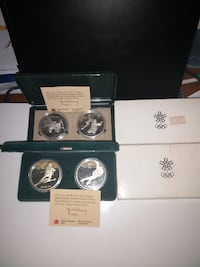 1985-1987 Winter Olympics Canadian Silver Proof Coins 15527 km