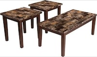 brown wooden framed marble top table Houston, 77077