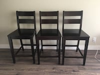 3 Counter Height Chairs with Backs Vancouver, V5R