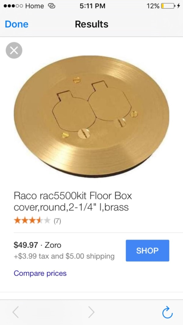Brraco Rac5500 Kit Floor Box Cover Round