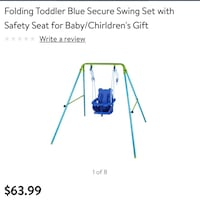 Blue and Green swing chair Bakersfield, 93306