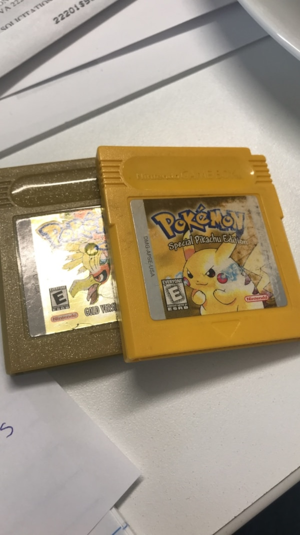 Pokémon yellow and gold