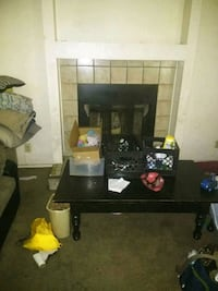 black wooden TV stand with flat screen television North Las Vegas, 89084