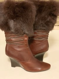 Henry Ferrera wedgeLeather and Fur boots Mississauga, L5V 2Y8