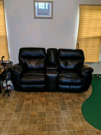 2 reclining sofa chairs with two footstools Moncks Corner, 29461