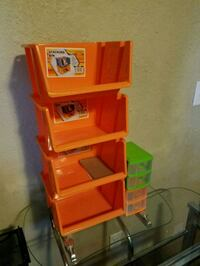 red and black plastic toy organizer Sioux Falls, 57104