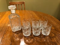 Crystal Decanter and Glasses Markham, L3R 6S1