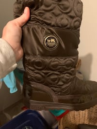 Brown coach boots! Size 9.5