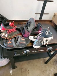 Under armor  cleats, sliders, and Basketball shoes Inola, 74036