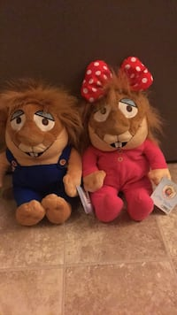 two brown and red bear plush toys Ocean Township