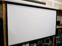 """110"""" Dragonfly Motorized Projection Screen Mesquite"""