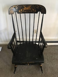 Black and brown wooden rocking armchair Wrightsville, 17368