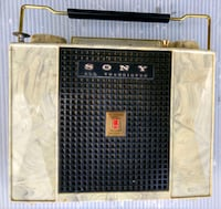 Sony tr-741 transistor radio in leather case