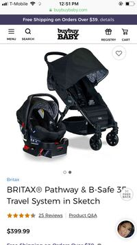 Britax B-safe car seat + base (I also have the stroller for sale) Riverside, 92505
